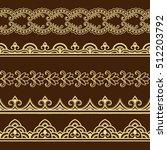set of seamless borders for...   Shutterstock .eps vector #512203792