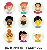 set of vector avatars icons men ... | Shutterstock .eps vector #512204002