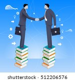 partnership based on knowledge... | Shutterstock .eps vector #512206576