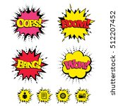 comic boom  wow  oops sound...   Shutterstock .eps vector #512207452