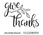 thanksgiving typography.give... | Shutterstock .eps vector #512208505