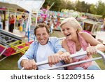 senior couple on a ride in... | Shutterstock . vector #512209156