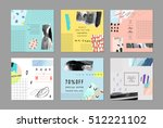 set of artistic creative... | Shutterstock .eps vector #512221102