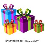 vector colorful gift boxes | Shutterstock .eps vector #51222694