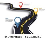 winding road on a white... | Shutterstock .eps vector #512228362