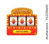 cartoon slot machine. daily... | Shutterstock .eps vector #512230642