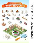 build your own isometric city....   Shutterstock .eps vector #512233342