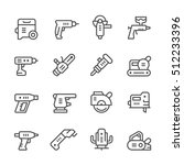 set line icons of electric tools   Shutterstock .eps vector #512233396