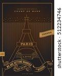 city of love wedding invitation ...   Shutterstock .eps vector #512234746