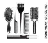 vector set of black plastic... | Shutterstock .eps vector #512239702