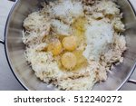 grated potato and onion and... | Shutterstock . vector #512240272