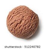 chocolate ice cream ball... | Shutterstock . vector #512240782