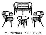 rattan garden furniture. two... | Shutterstock .eps vector #512241205