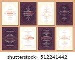 monogram creative cards... | Shutterstock .eps vector #512241442