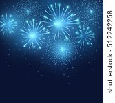vector holiday blue fireworks.... | Shutterstock .eps vector #512242258
