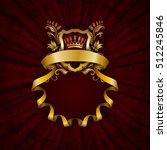 elegant golden frame with...   Shutterstock .eps vector #512245846