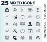 set of 25 universal editable... | Shutterstock .eps vector #512245882