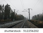 railway in the forest on a... | Shutterstock . vector #512256202