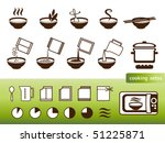 cooking signs  for manuals on... | Shutterstock .eps vector #51225871