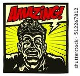 amazing  comic book style panel ... | Shutterstock .eps vector #512267812