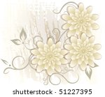 abstract flowers background. | Shutterstock .eps vector #51227395