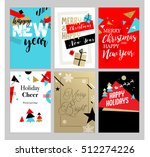 christmas and new year flat... | Shutterstock .eps vector #512274226