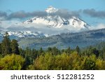 South Sisters Mountain At Oregon