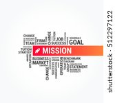 mission word cloud banner | Shutterstock .eps vector #512297122