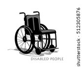 wheelchair silhouette with... | Shutterstock .eps vector #512305876