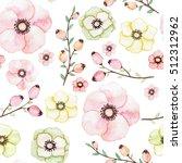 watercolor berries and light... | Shutterstock . vector #512312962
