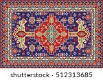 colorful mosaic rug with... | Shutterstock .eps vector #512313685