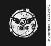 old vintage drone logo isolated ... | Shutterstock . vector #512314942