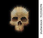 studded skull | Shutterstock . vector #512318296