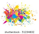 colorful bright ink splashes on ... | Shutterstock .eps vector #51234832