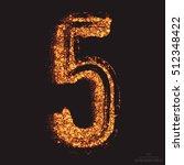 vector grungy font 001. number... | Shutterstock .eps vector #512348422