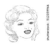 vector of beautiful woman face...