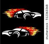 speed car logo design template.   Shutterstock .eps vector #512363368
