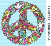 hand drawn psychedelic groovy... | Shutterstock .eps vector #51236458