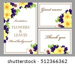 romantic invitation. wedding ... | Shutterstock . vector #512366362