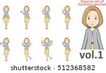 diverse set of business woman   ... | Shutterstock .eps vector #512368582