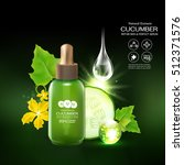 collagen cucumber extract serum ... | Shutterstock .eps vector #512371576