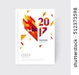 white modern business brochure  ... | Shutterstock .eps vector #512373598