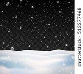 snow on transparent background. ... | Shutterstock .eps vector #512377468