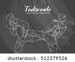 taekwondo background design.... | Shutterstock .eps vector #512379526