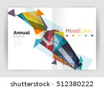 triangle abstract background.... | Shutterstock .eps vector #512380222