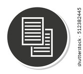 document paper file isolated... | Shutterstock .eps vector #512382445