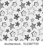 sketchy star seamless background | Shutterstock .eps vector #512387755