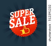super sale shopping tag vector... | Shutterstock .eps vector #512391232