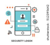 security login on a smartphone. ...