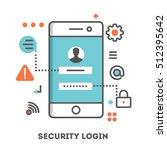 security login on a smartphone. ...
